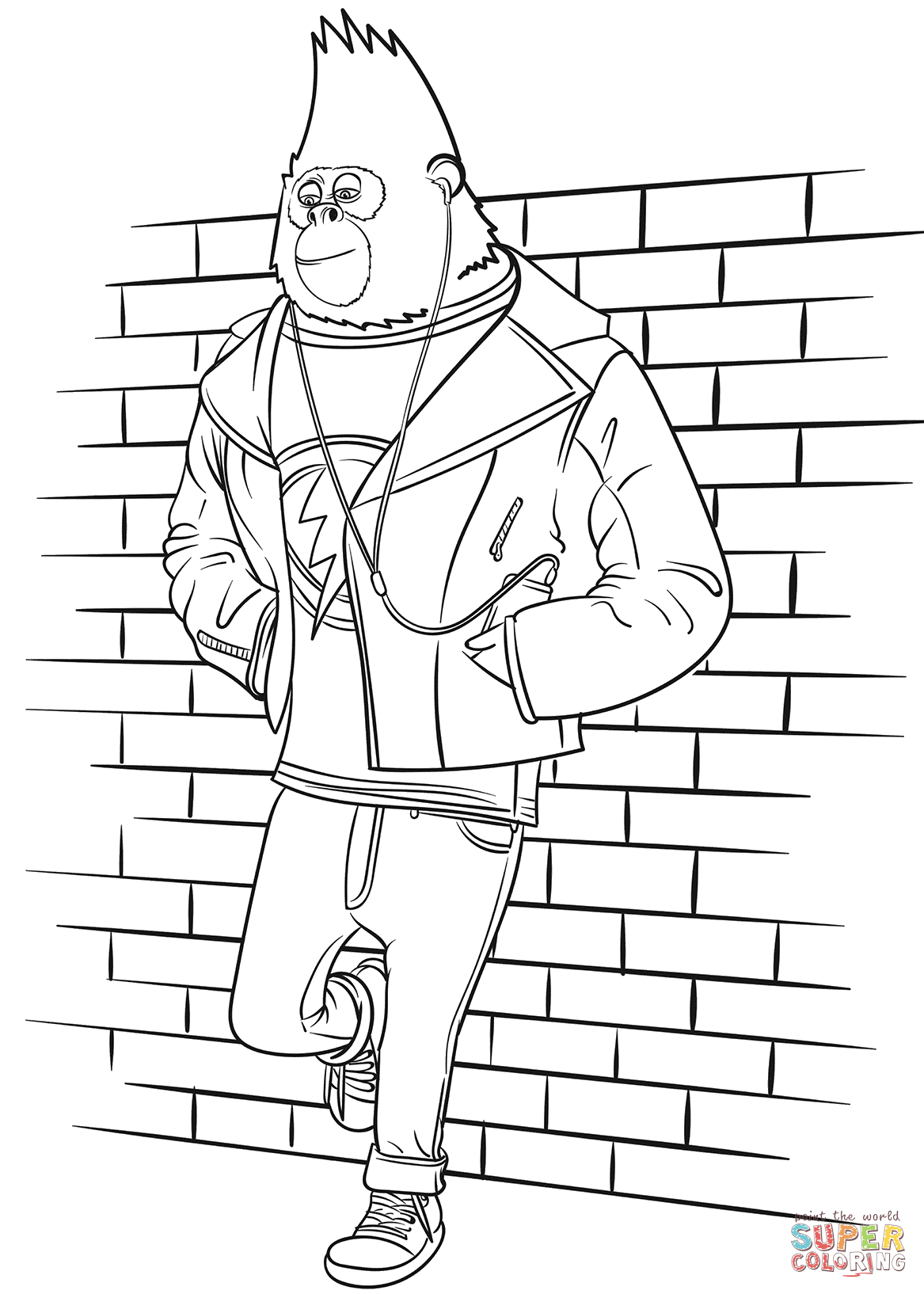 Johnny From Sing Movie Coloring Page
