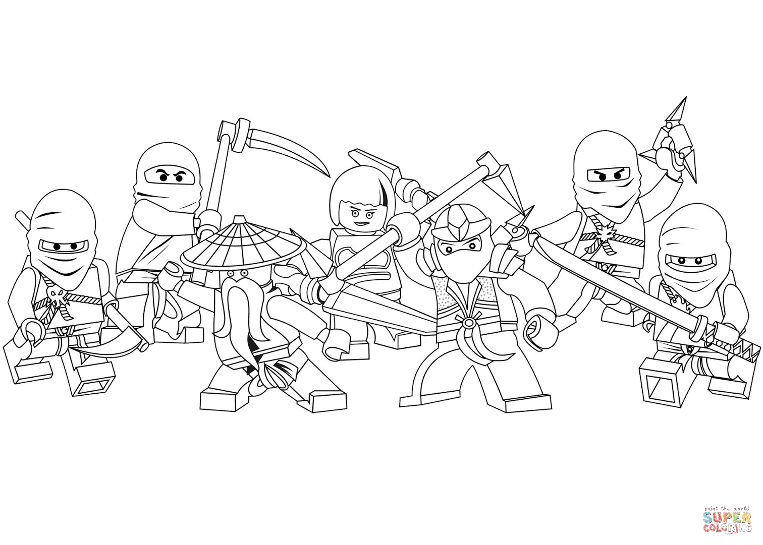 Lego Ninjago Coloring Page Free Printable Coloring Pages