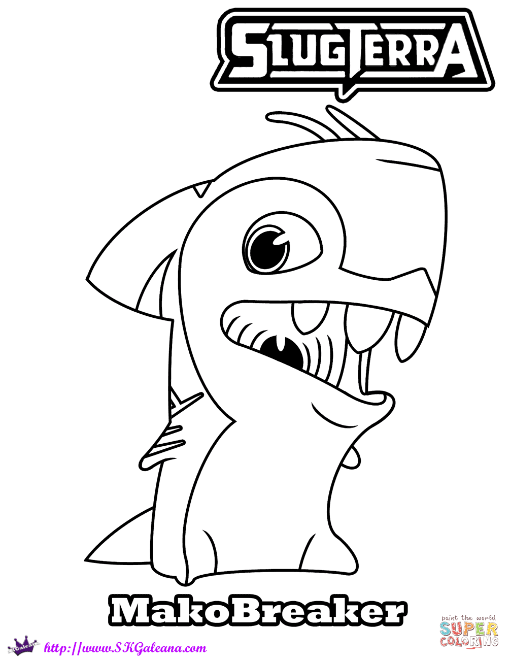 Makobreaker Coloring Page Free Printable Coloring Pages