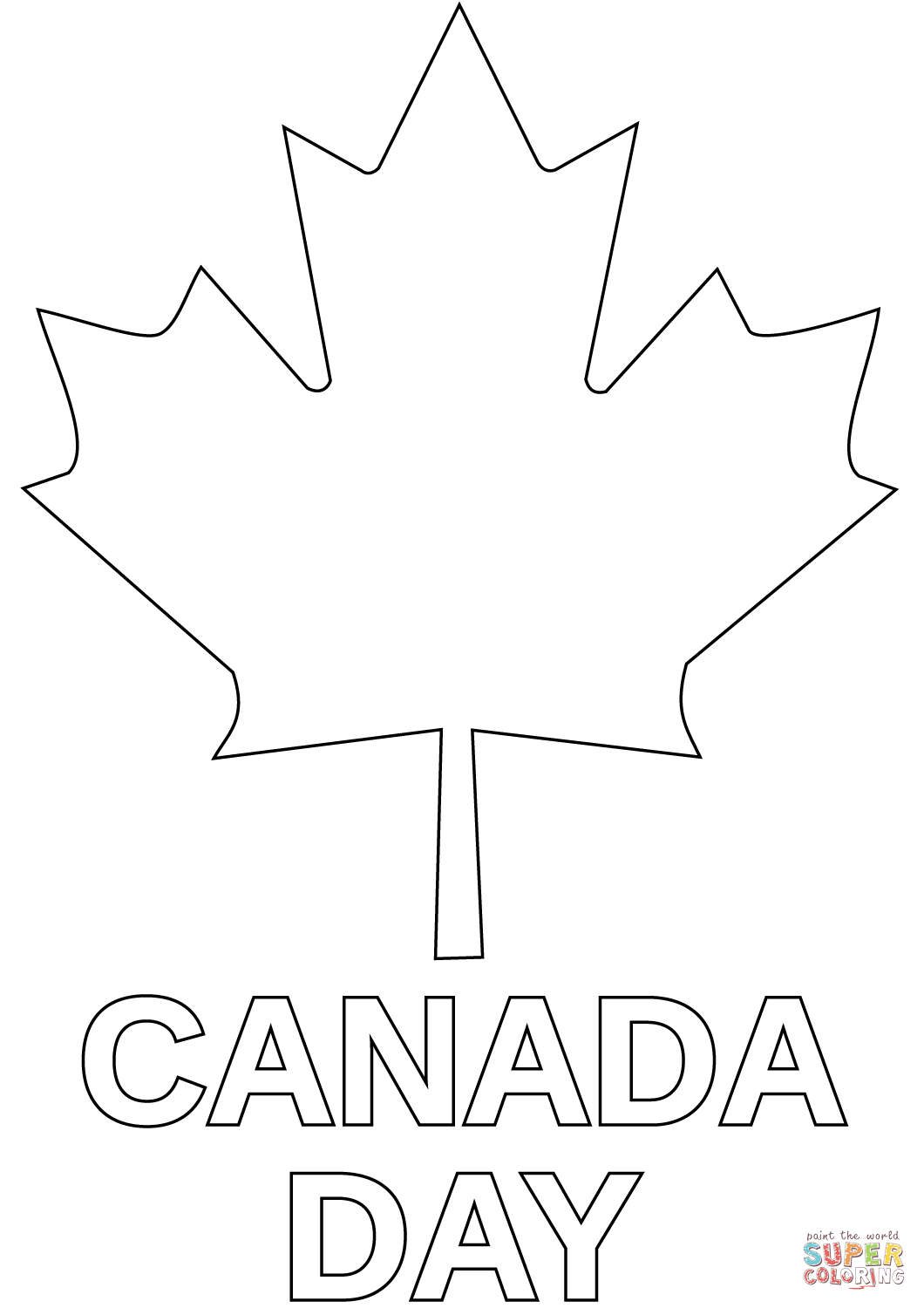 Canada Day Coloring Page