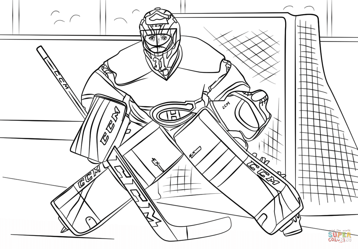 Carey Price Coloring Page