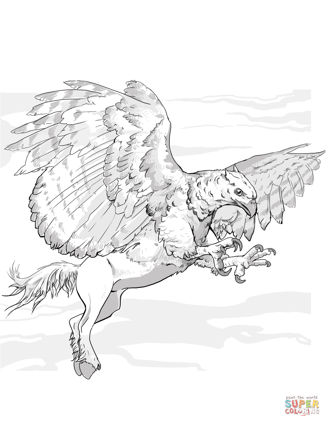 Dnd Hippogriff Coloring Page