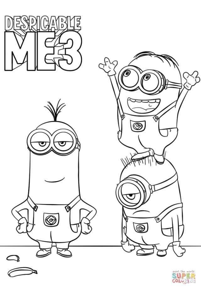 Despicable Me 30 Minions coloring page  Free Printable Coloring Pages