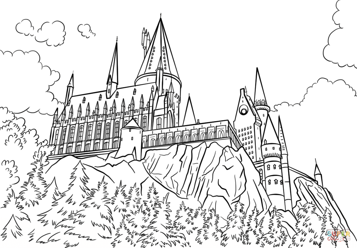 Hogwarts Castle Coloring Page Free Printable Coloring Pages