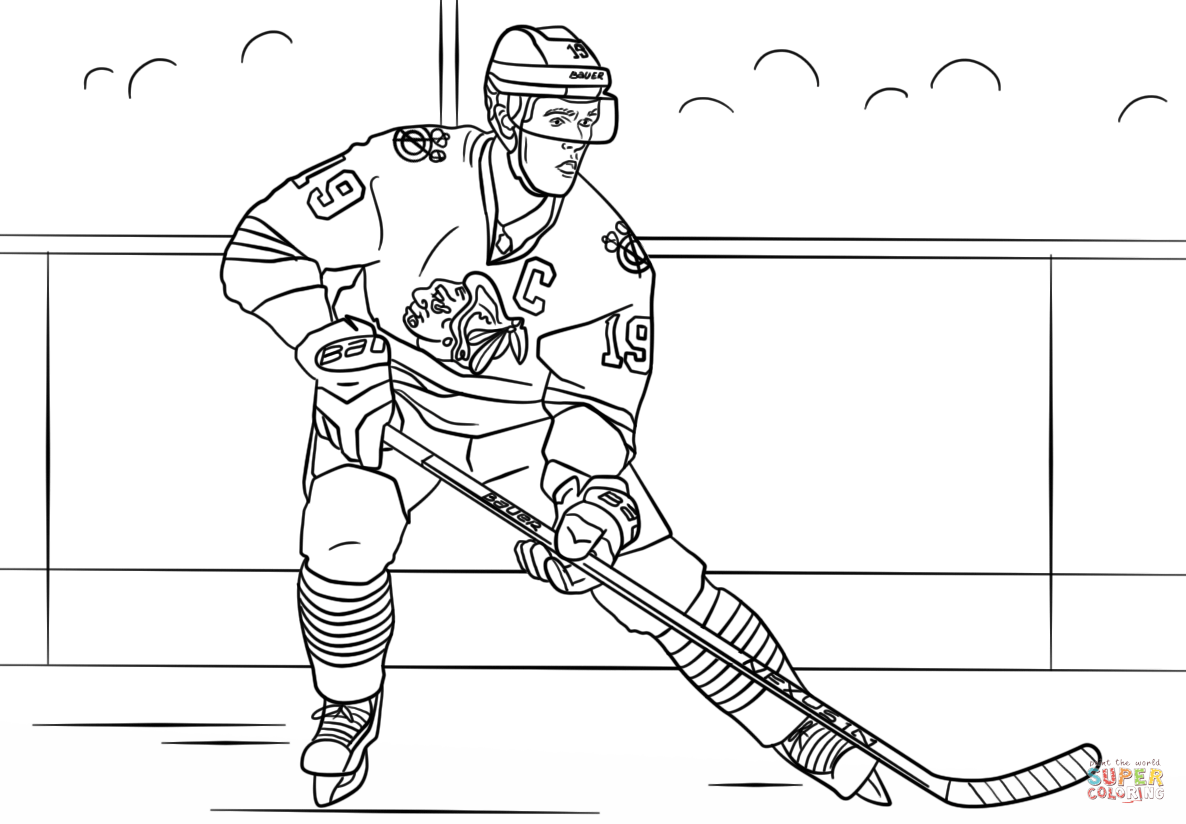 Jonathan Toews Coloring Page Free Printable Coloring Pages