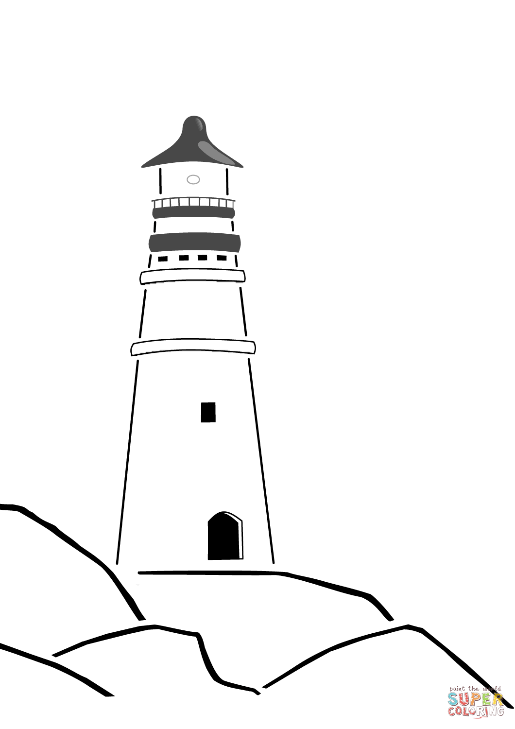 Coloring Pages Of Lighthouse Of Alexandria Coloring Pages