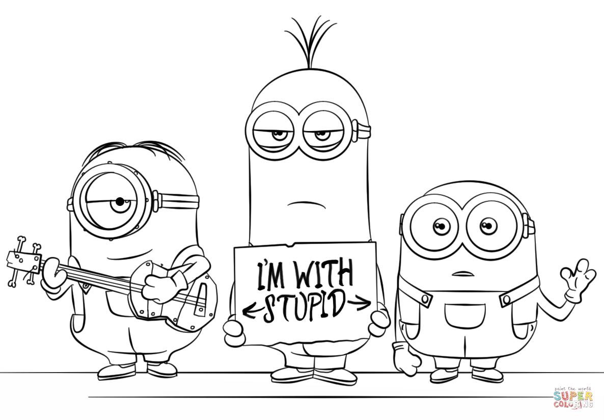 Minions From Despicable Me 3 Coloring Page