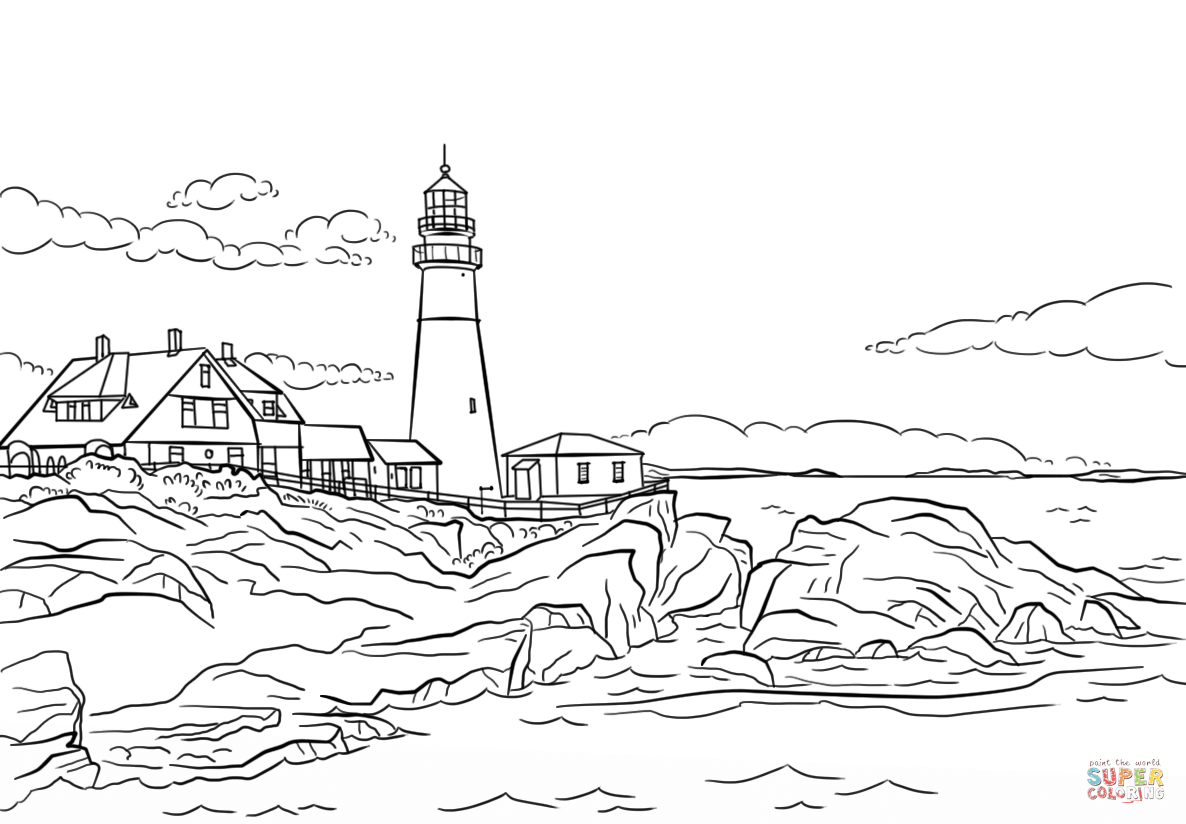 Lighthouses Coloring Pages
