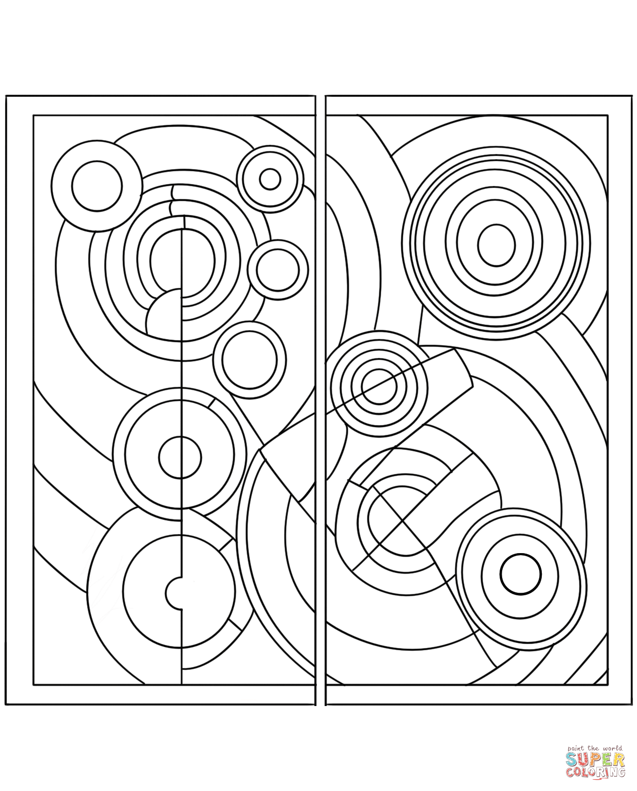 Rhythm By Robert Delaunay Coloring Page