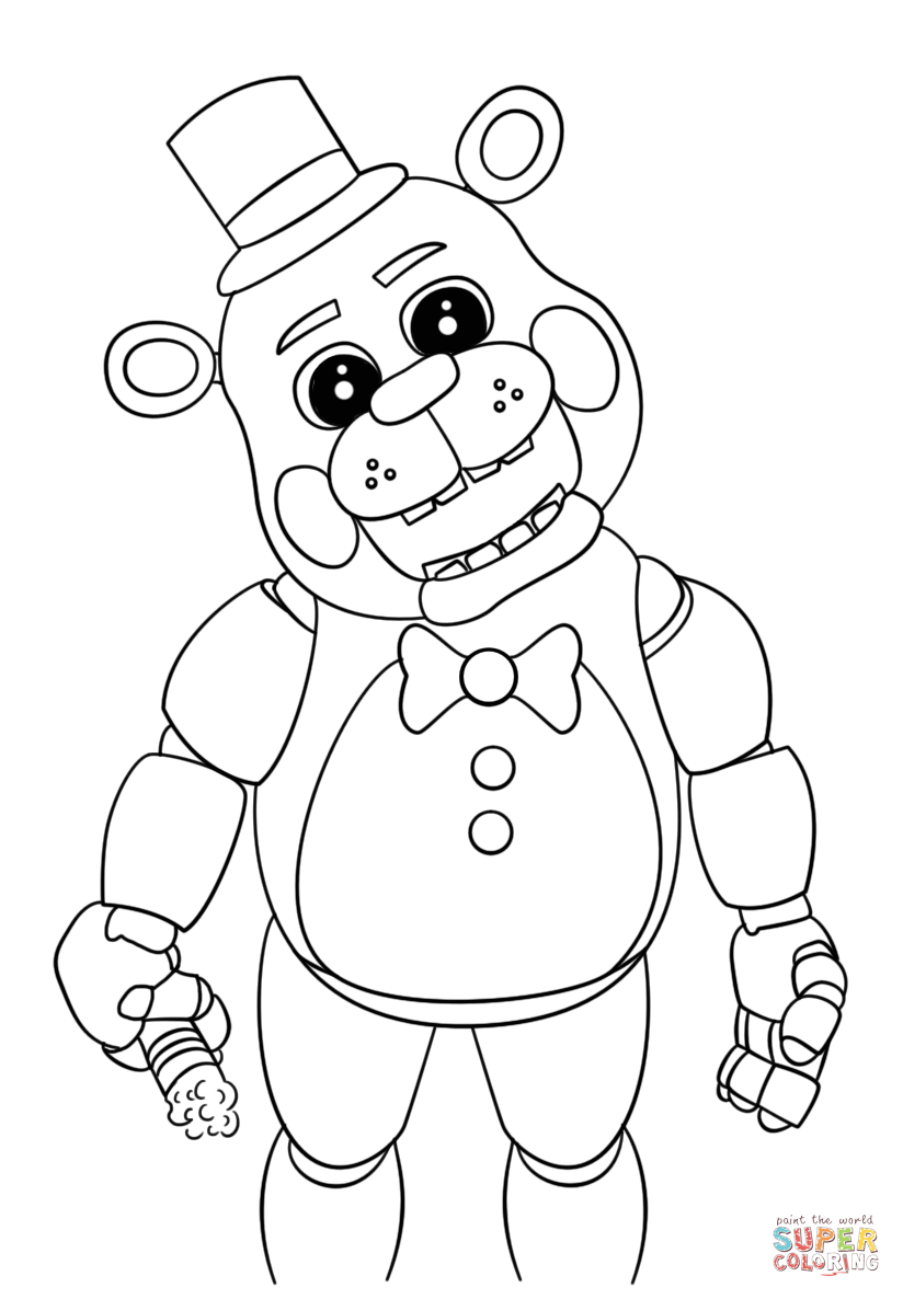 cute five nights at freddy's coloring page  free