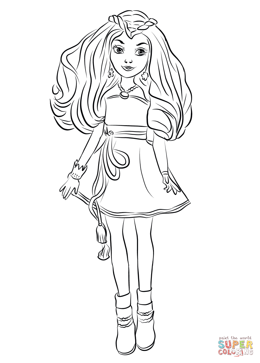 Evie From Descendants Wicked World Coloring Page Free Printable