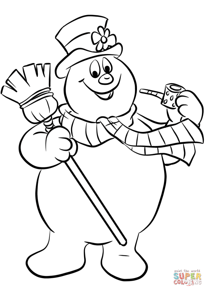 snowman color page | Coloring Page for kids