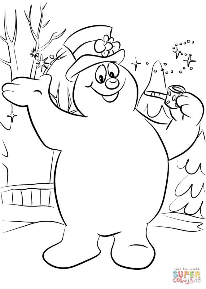 frosty the snowman coloring book | Coloring Page for kids