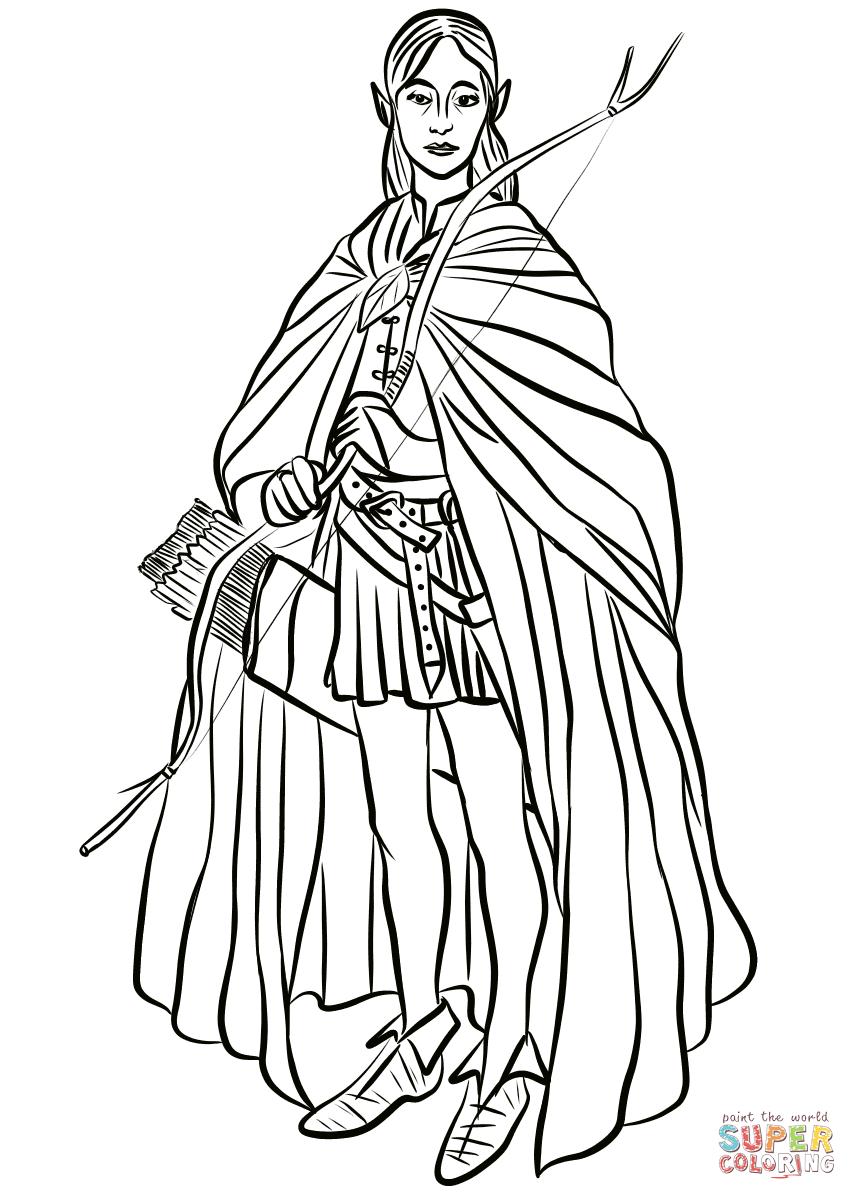 Legolas Greenleaf Coloring Page Free Printable Coloring