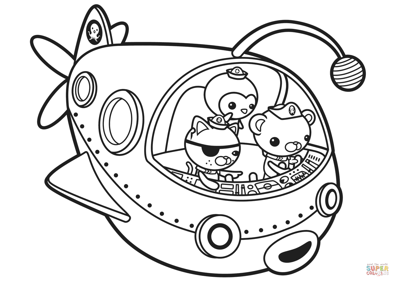 Octonauts Off To Adventure Coloring Page