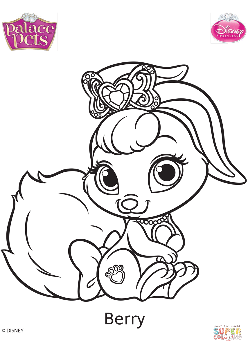 Palace Pets Berry Coloring Page Free Printable Coloring Pages