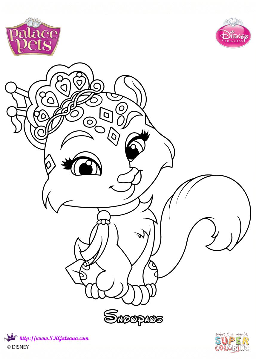Palace Pets Snowpaws Coloring Page Free Printable Coloring Pages