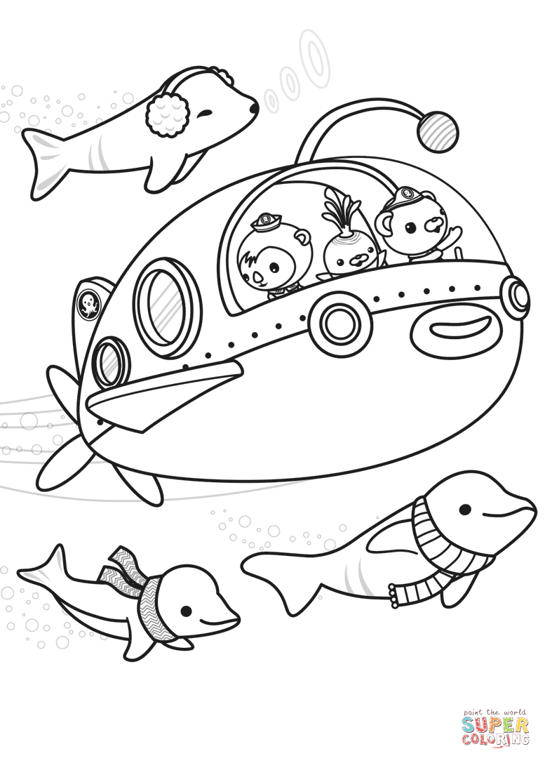 The Octonauts Explore Coloring Page Free Printable Coloring Pages