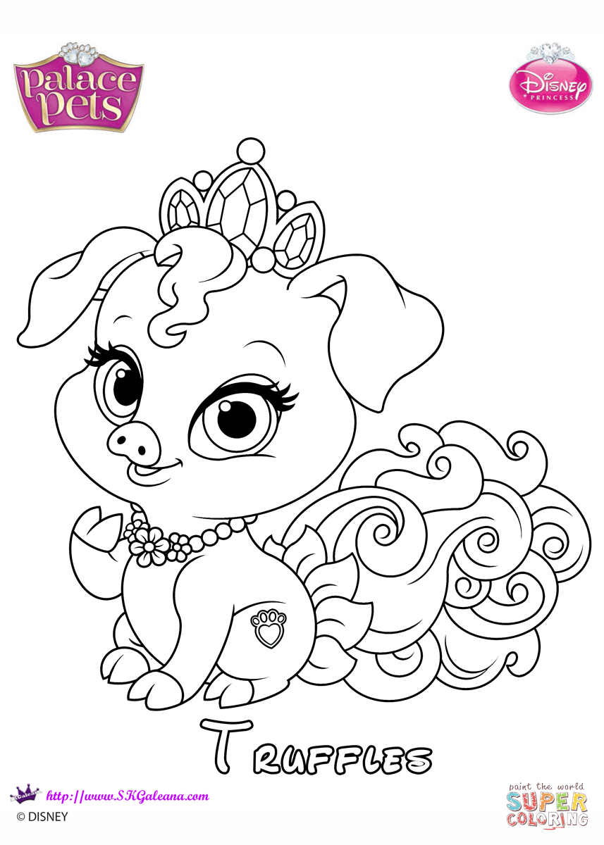 Truffles Princess Coloring Page Free Printable Coloring Pages