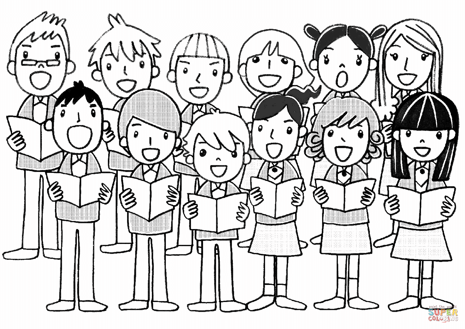 Children S Chorus Coloring Page