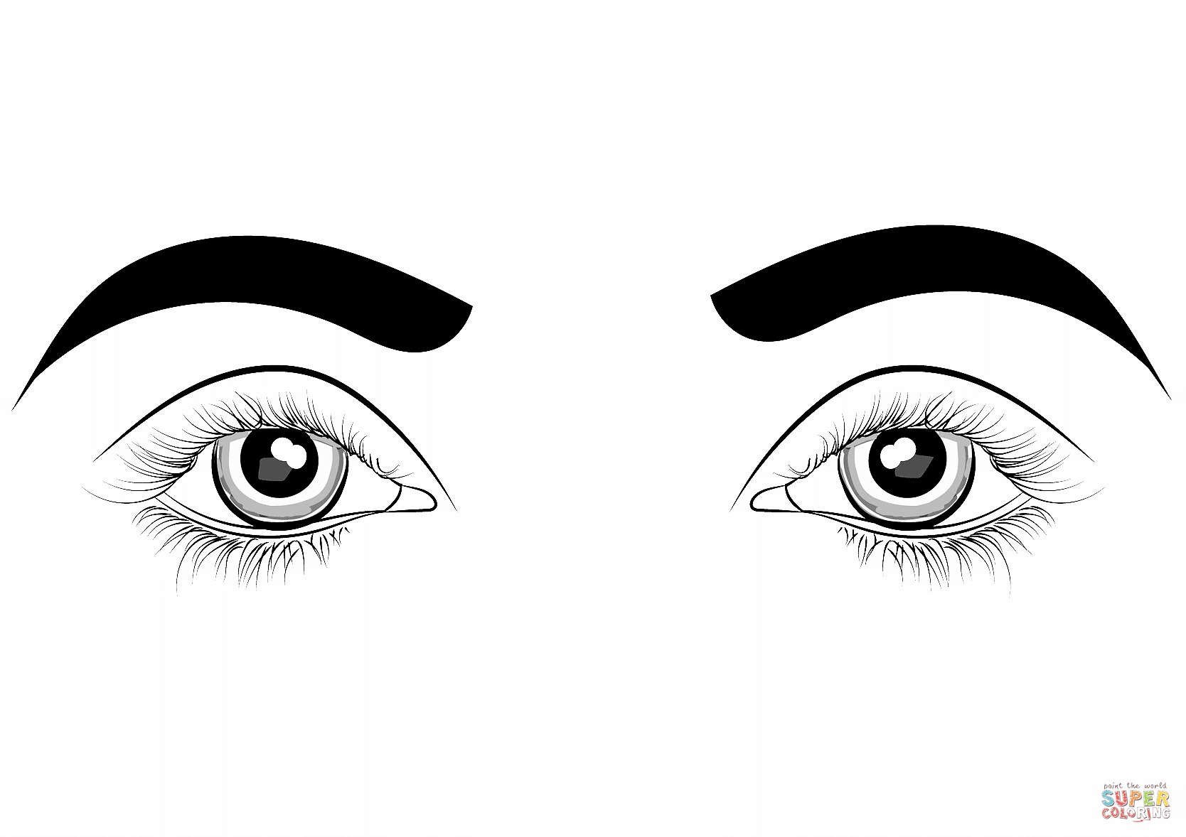 Eyes Coloring Page