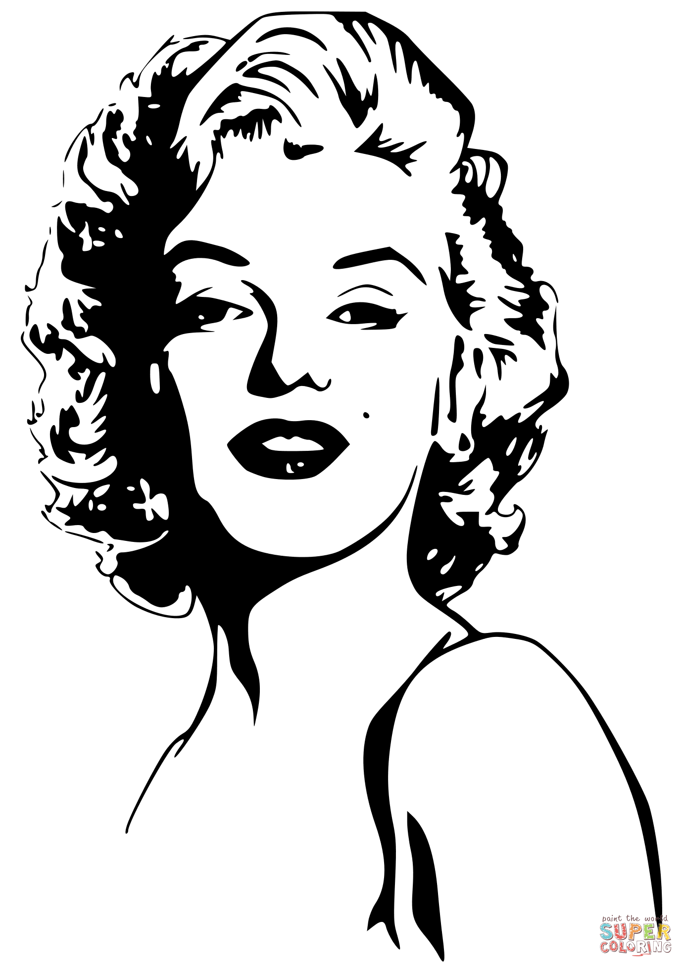 Marilyn Monroe Coloring Page