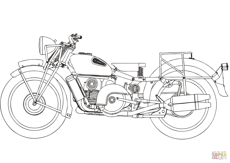 Moto Guzzi Alice Coloring Page