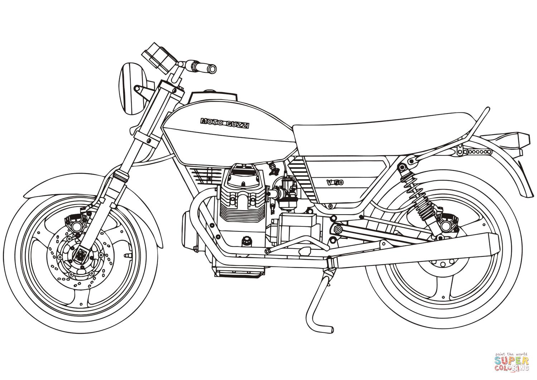 Ausmalbild Moto Guzzi V50