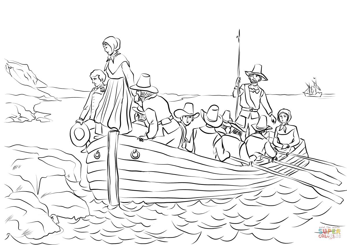 Pilgrims John Alden And Mary Chilton Landing At Plymouth