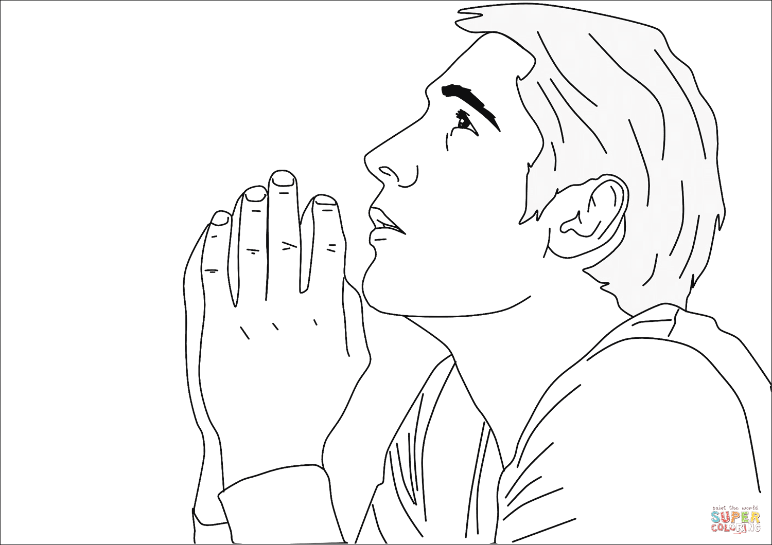 Person Praying Clipart