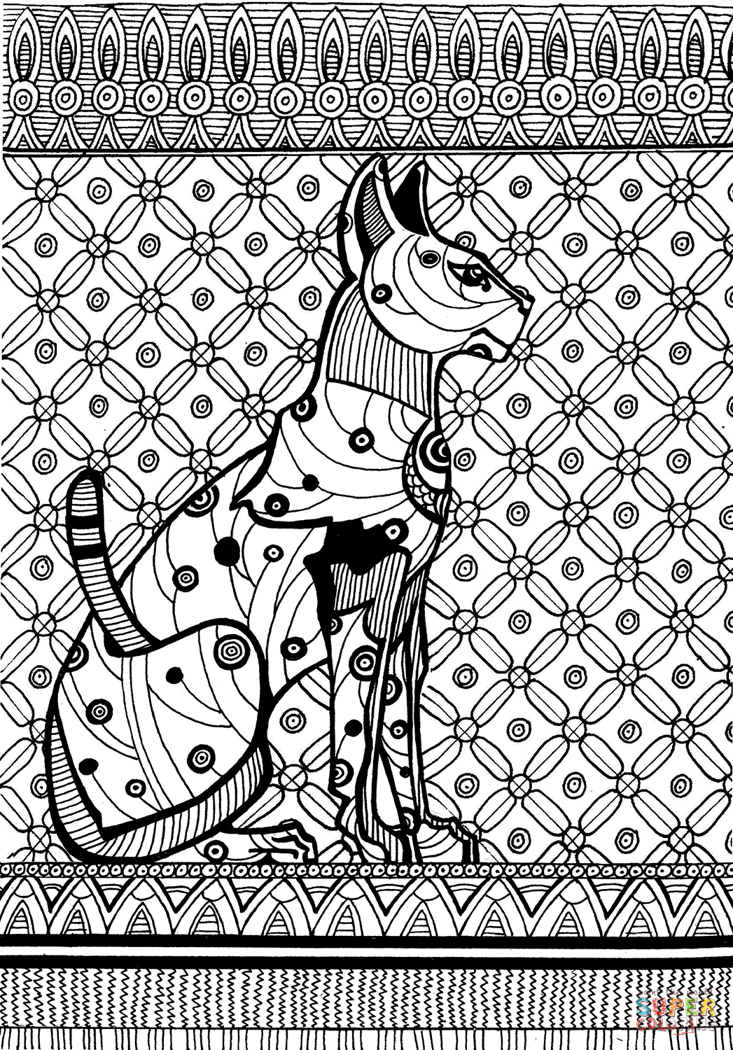 Sekhmet A Warrior Goddess Coloring Page