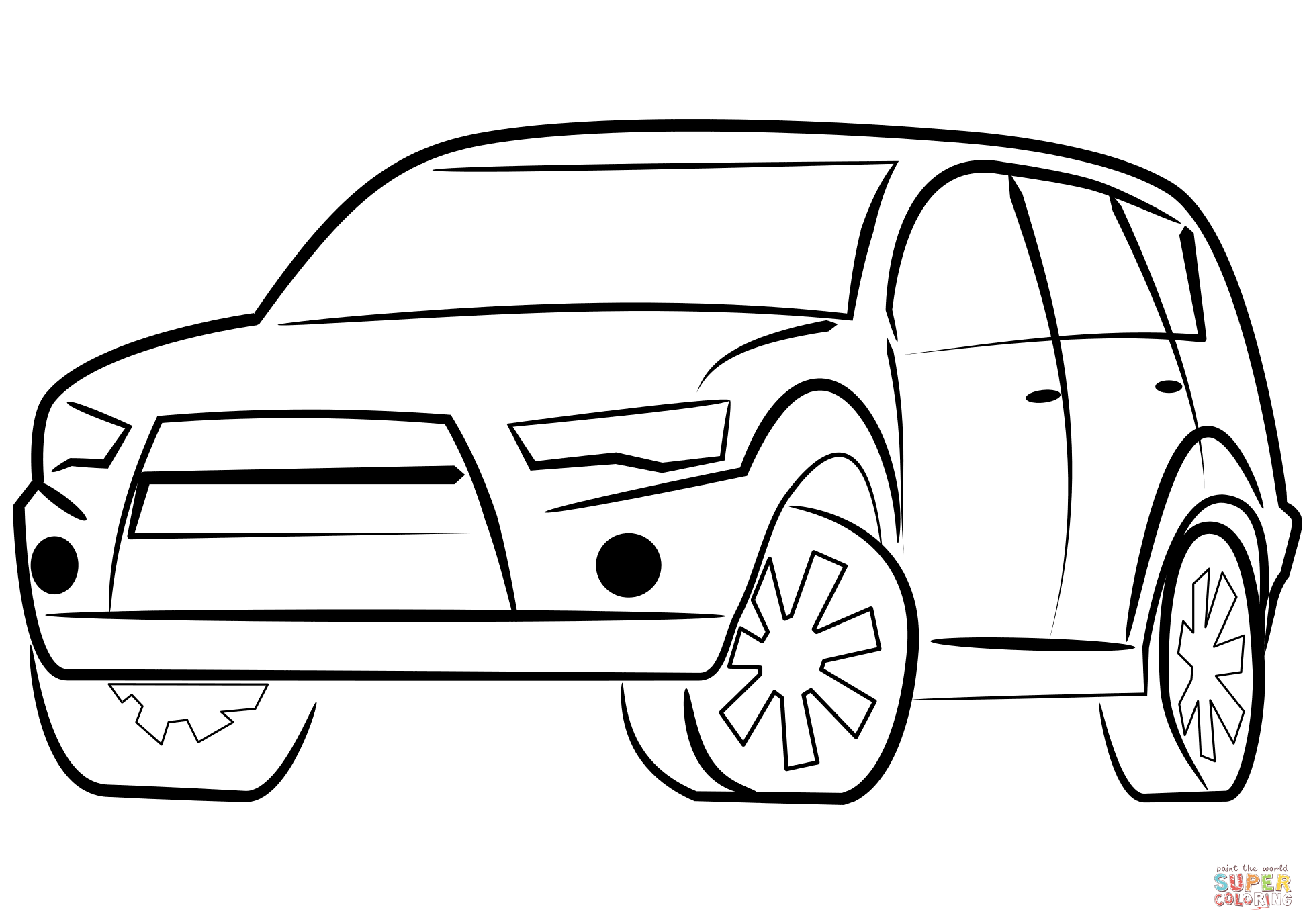 Suv Car Coloring Page