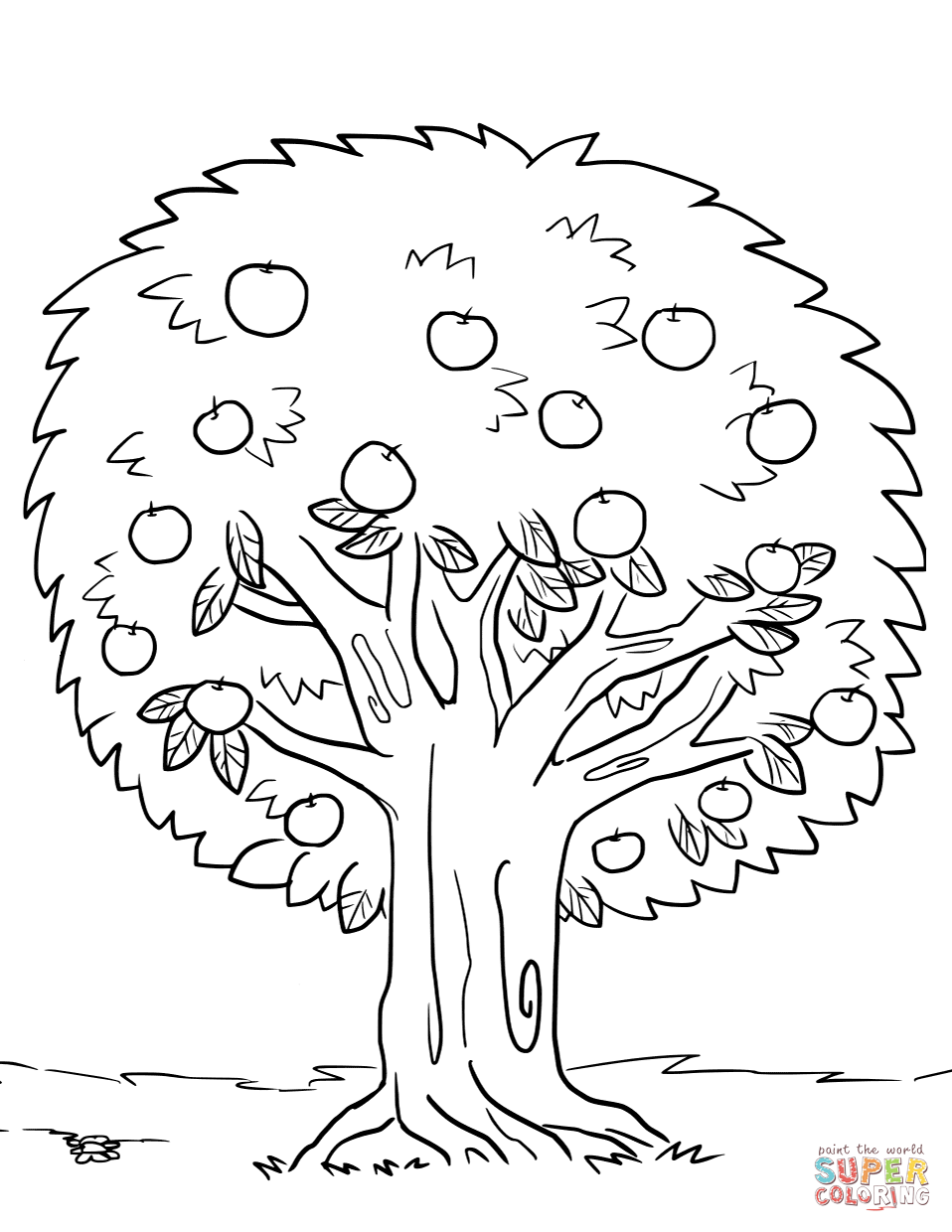 Coloring Pages Trees Free Coloring Pages Download | Xsibe christmas ...