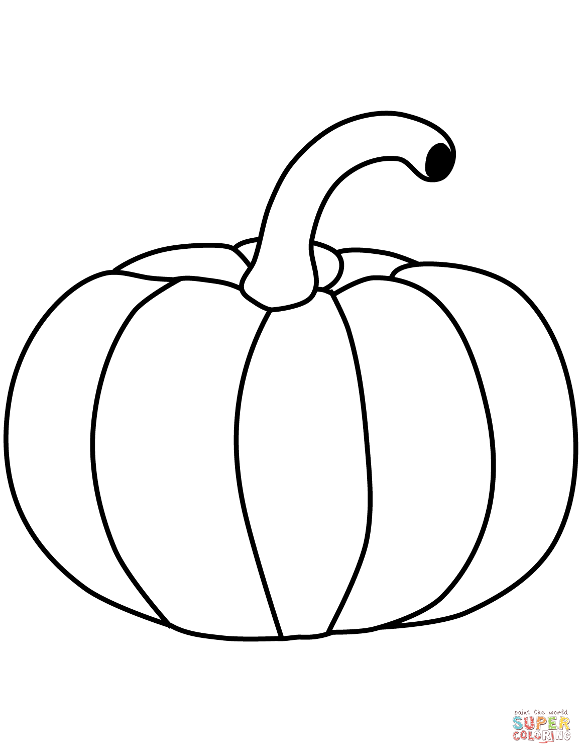 Pumpkin Coloring Page