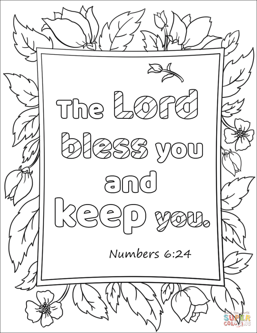 the lord bless you and keep you coloring page  free