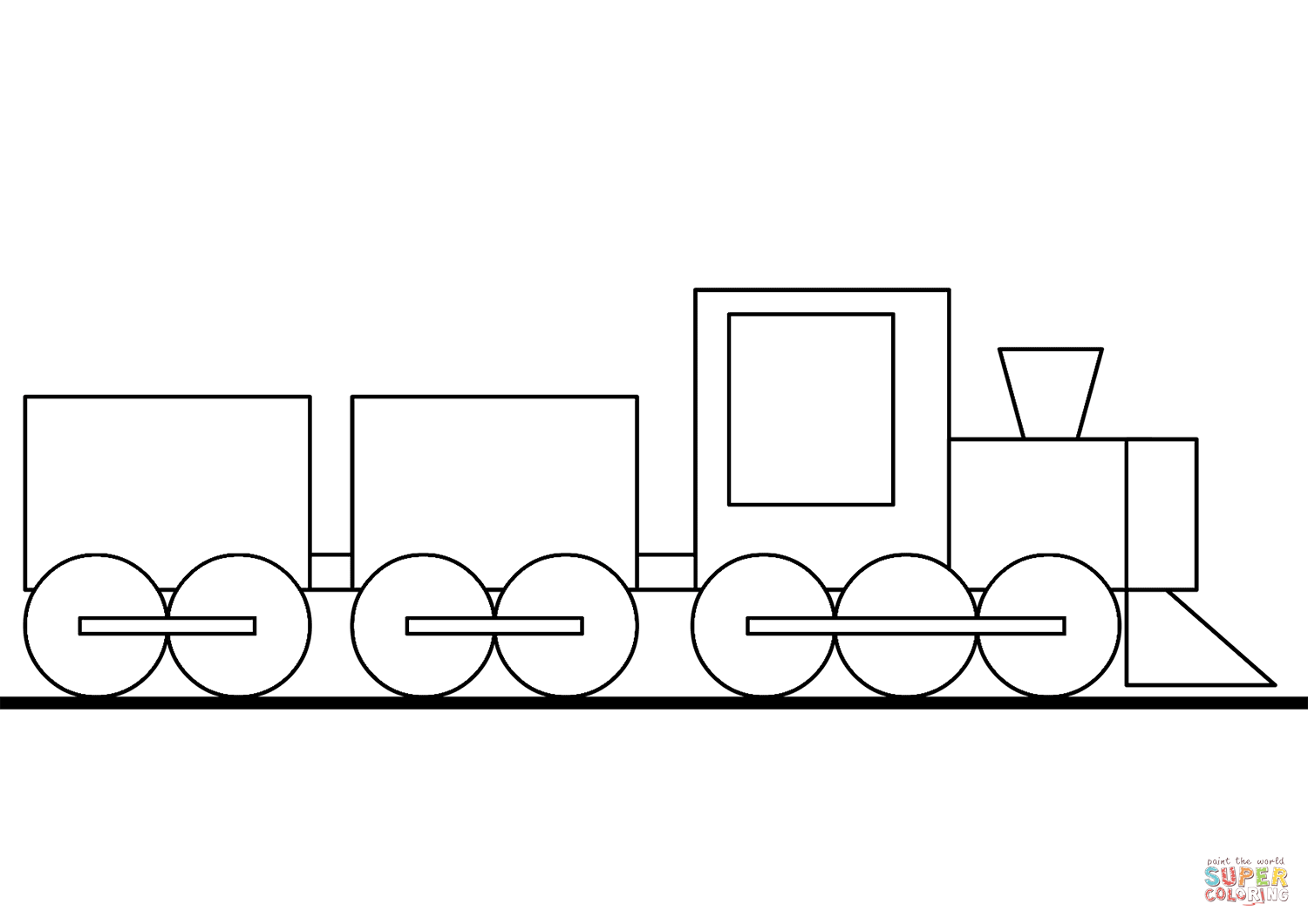 Cartoon Train Coloring Page