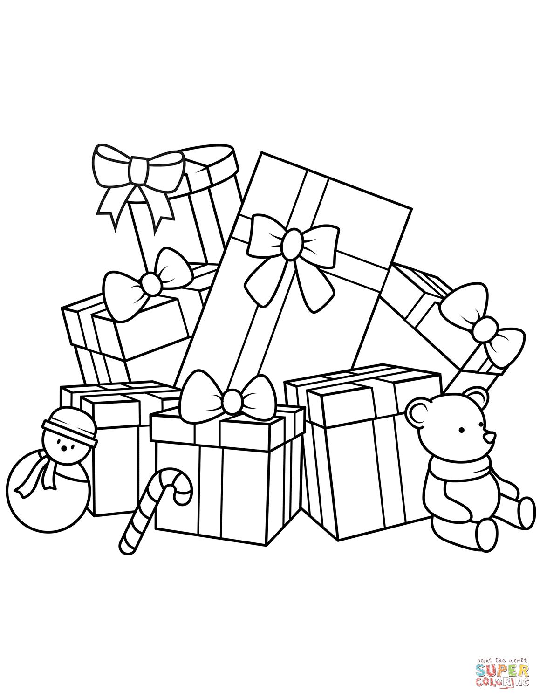 Christmas Wish List Coloring Page