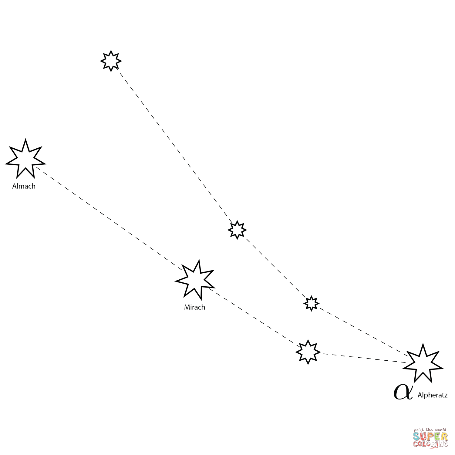 Andromeda Constellation Coloring Page