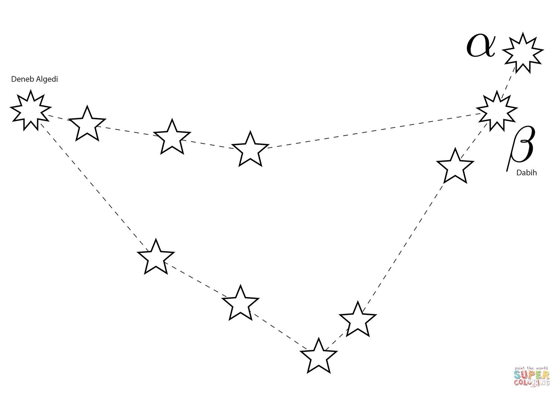 Capricornus Constellation Coloring Page
