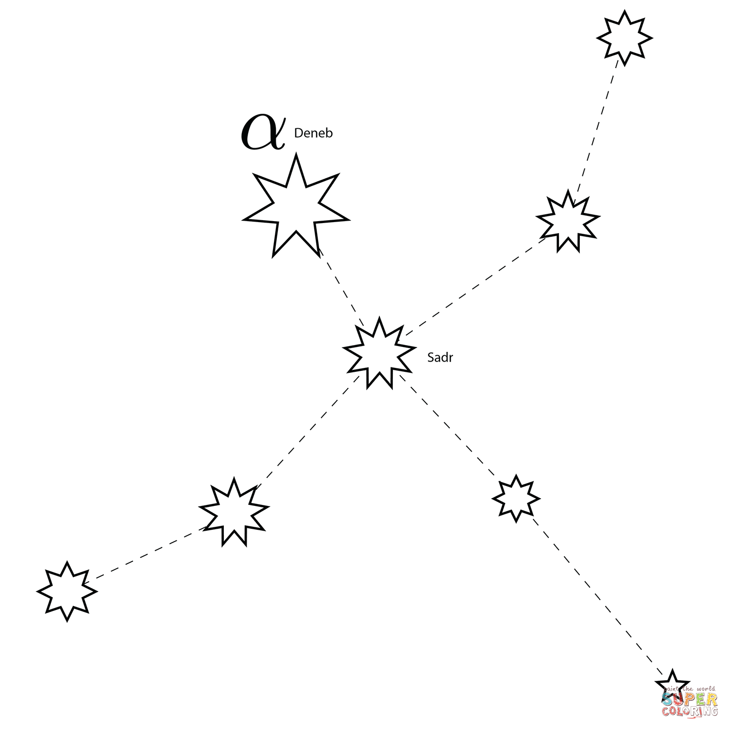Cygnus Constellation Coloring Page