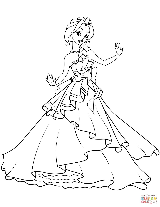 Dancing Princess Coloring Page
