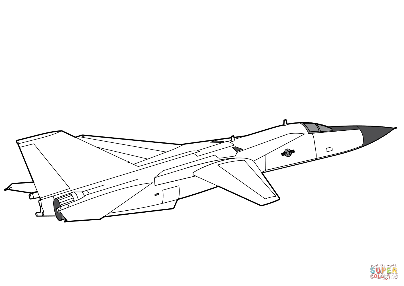 F 111 Aardvark Coloring Page