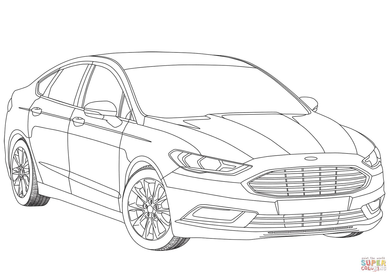Dibujo De Ford Mondeo Mk V Para Colorear