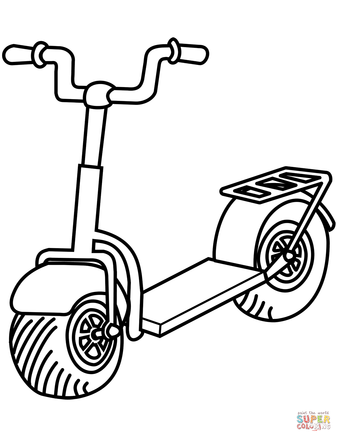 Kick Scooter Coloring Page