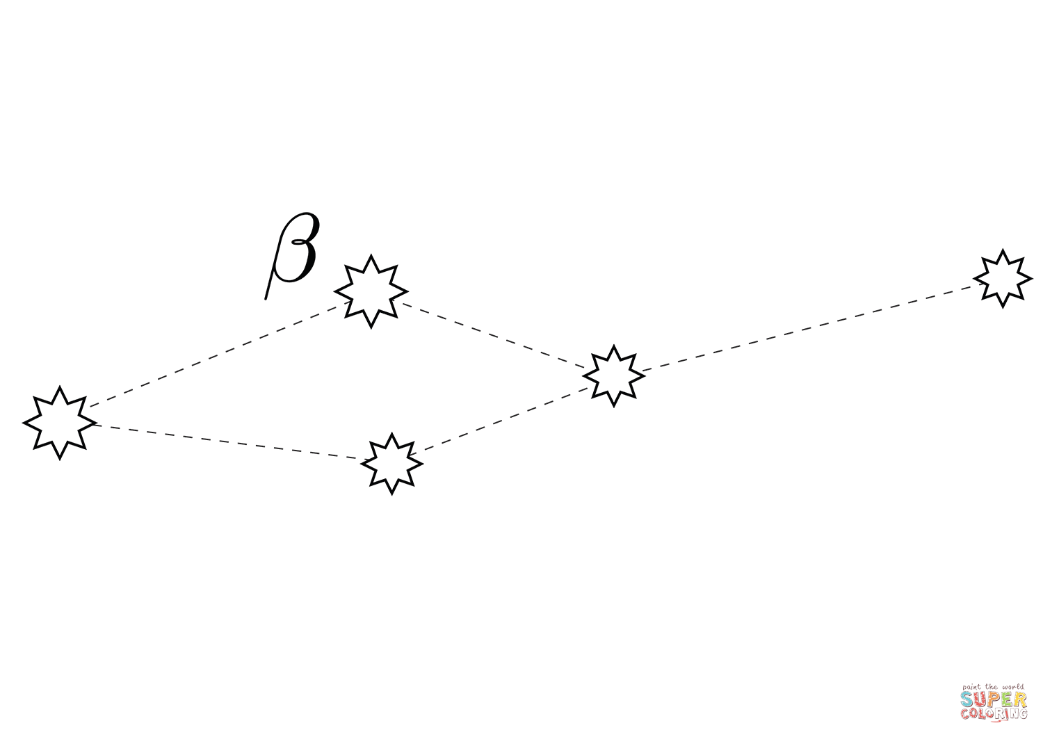 Leo Minor Constellation Coloring Page