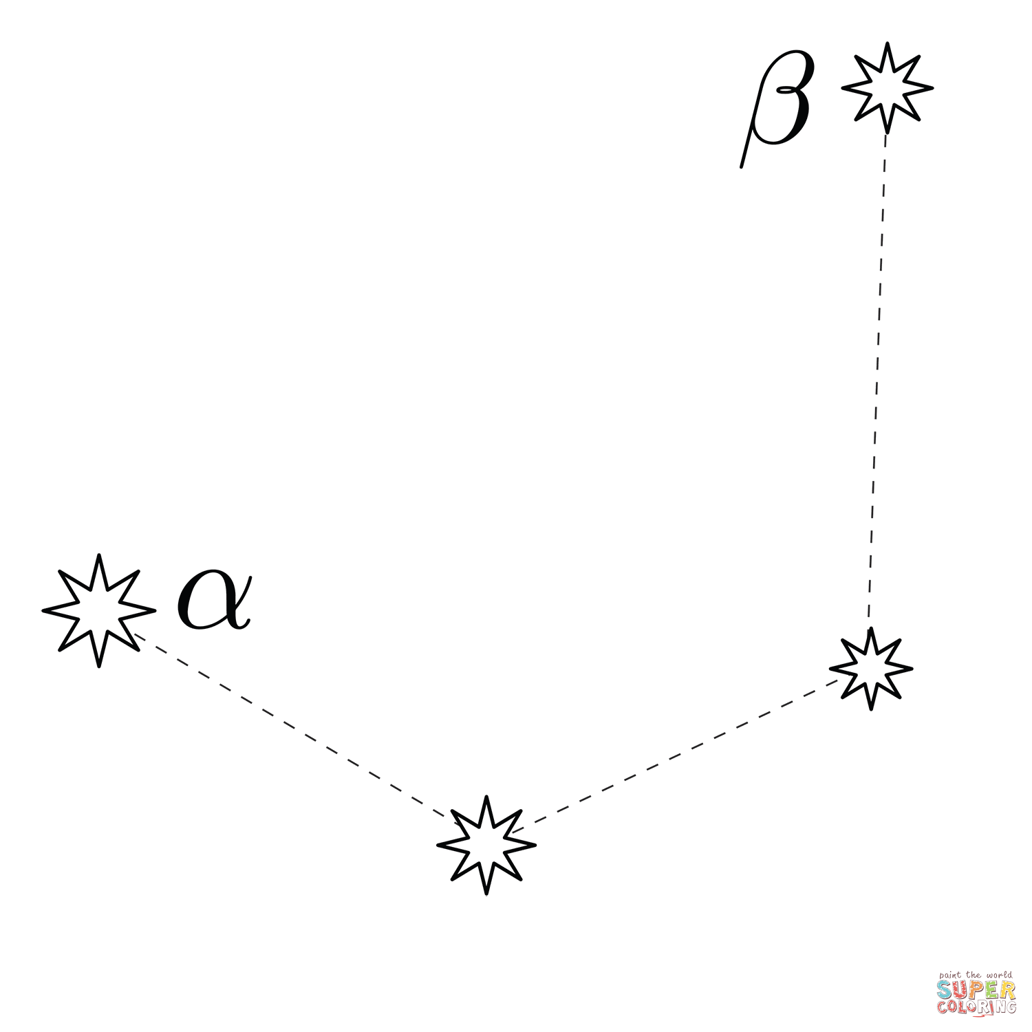Mensa Constellation Coloring Page
