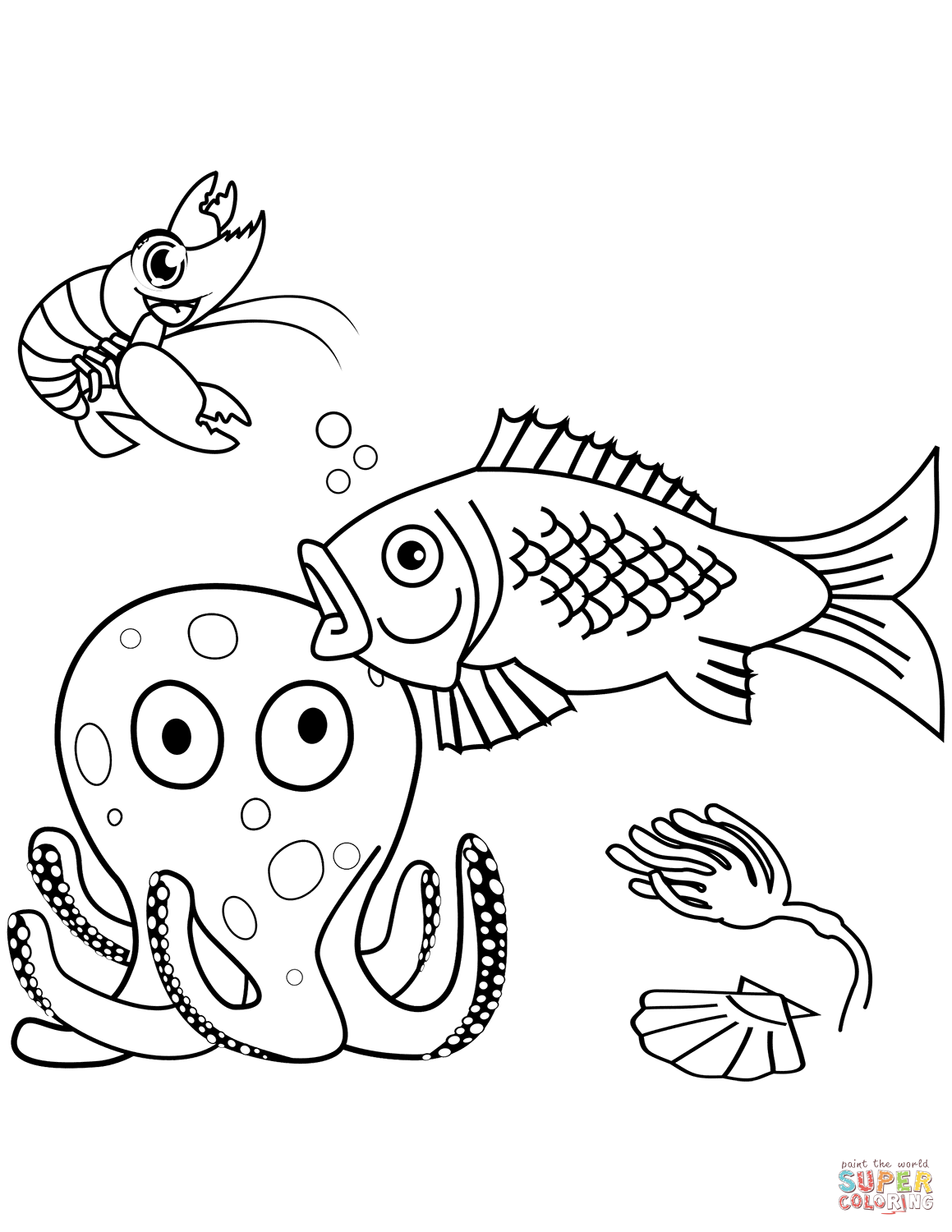 Sea Life Coloring Page Free Printable Coloring Pages
