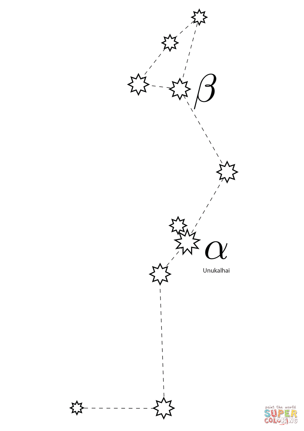 Serpens Constellation Coloring Page