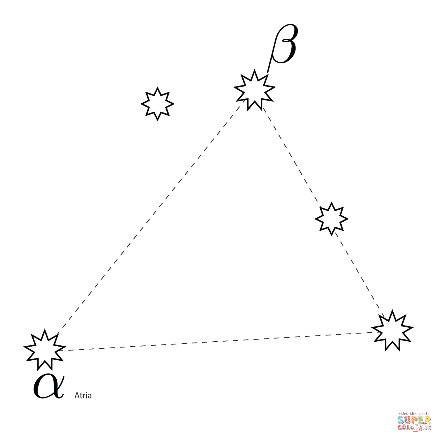 Triangulum Australe Constellation Coloring Page