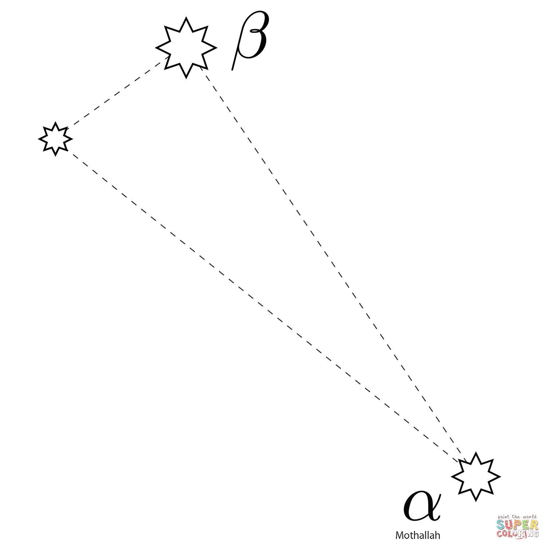 Triangulum Constellation Coloring Page